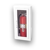 JL Ambassador 8117G10 Semi-Recessed 5 lbs. Fire Extinguisher Cabinet with Lock