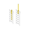 JL LP-4 Ladder Mount Expandable Safety Post - Yellow Painted Steel