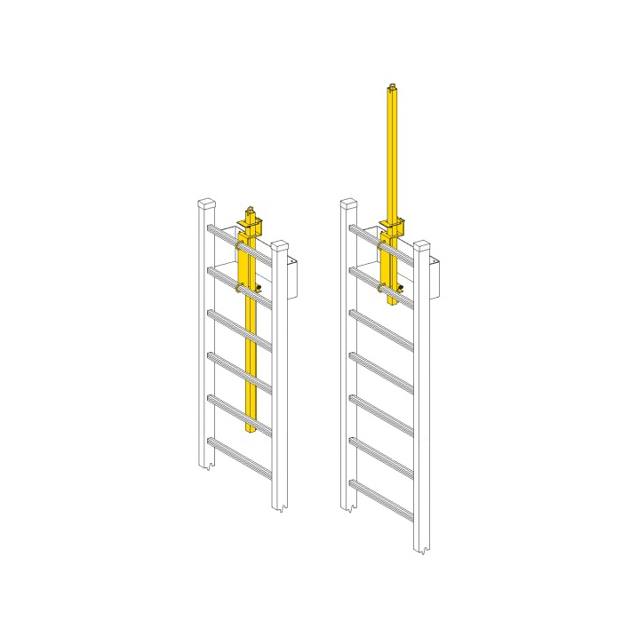 Jl Lp 4 Ladder Mount Expandable Safety Post Yellow