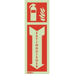 Fire Extinguisher Safety Sign with Arrow