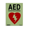 Jalite AAA PVC Photoluminescent AED Sign - JAL-US810DR
