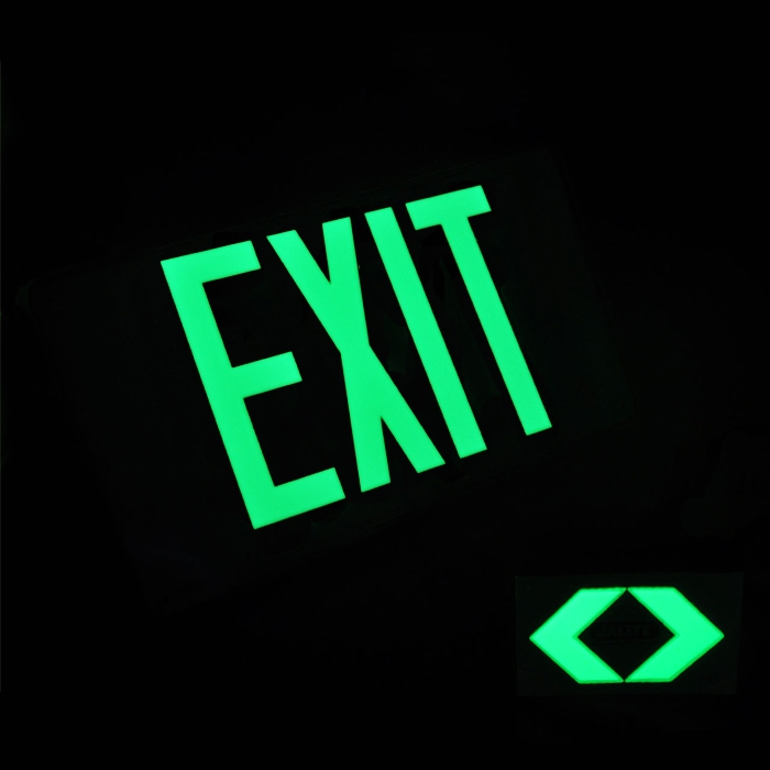 Jalite Ul Listed Aluminum Photoluminescent Exit Sign