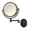 Jerdon HL65BZ 5X Halo Lighted Mirror Bronze