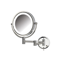 LED Lighted Wall Mirror Chrome