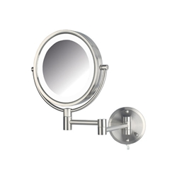 LED Lighted Wall Mirror Nickel