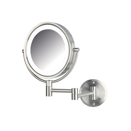 HL88NLD LED Wall Mirror Nickel Hard Wire