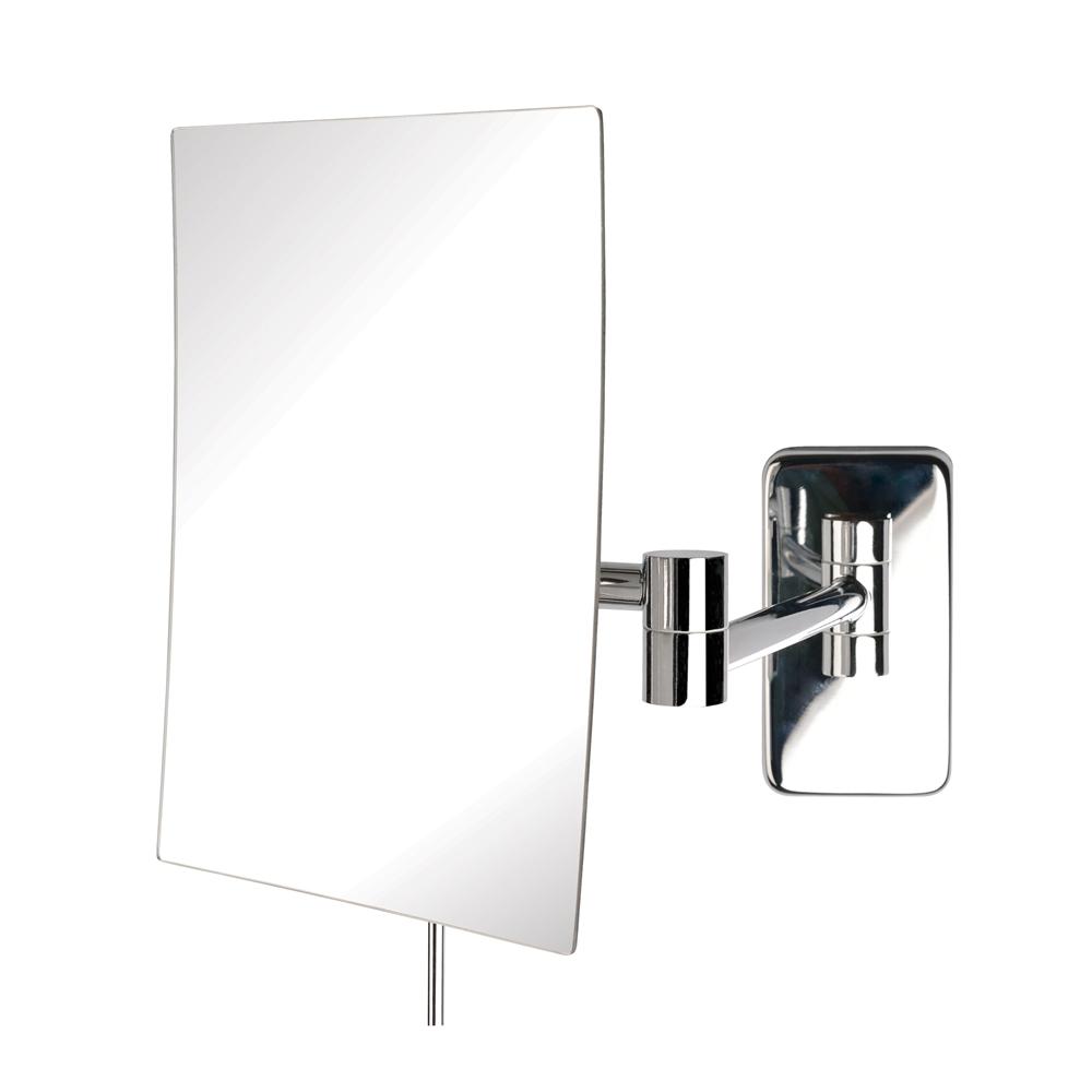 Wall mounted makeup mirrors jerdon jrt695c rectangular wall mounted mirror amipublicfo Gallery