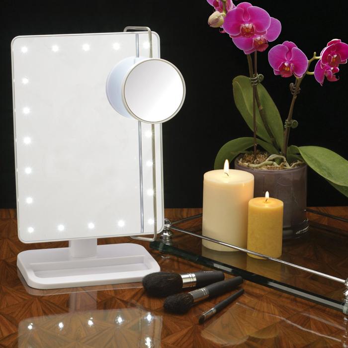 Jerdon Model JS811W LED Lighted Makeup Mirror #JS-JS811W