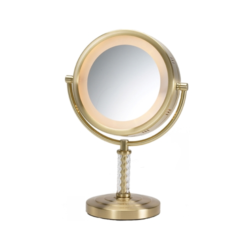 Lighted Vanity Top Mirror : Jerdon HL856BC Lighted Vanity Top Mirror 6X - The Classic Series #JP-HL856BC