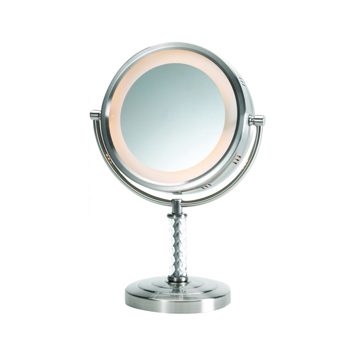 Jerdon HL856MNC Lighted Vanity Top Mirror 6x - The Classic Series #JP-HL856MNC