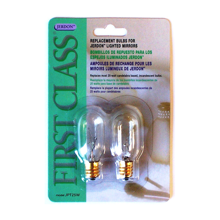 Jerdon Jpt25w Replacement Bulbs For Lighted Mirrors Jp Jpt25w