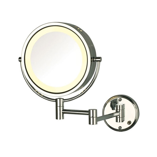 Jerdon Model Hl75cd 8x Halo Light 174 Wall Mounted Mirror