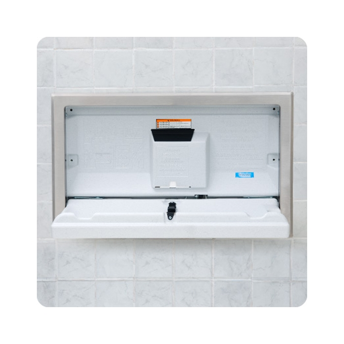 Koala Recessed Baby Changing Station Horizontal Design