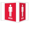 Visi-Signs™ 3D Mens Restroom Sign VS15R