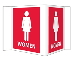 Visi-Signs™ 3D Womens Restroom Sign VS16R