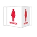 Visi-Signs™ 3D Womens Restroom Sign VS5W