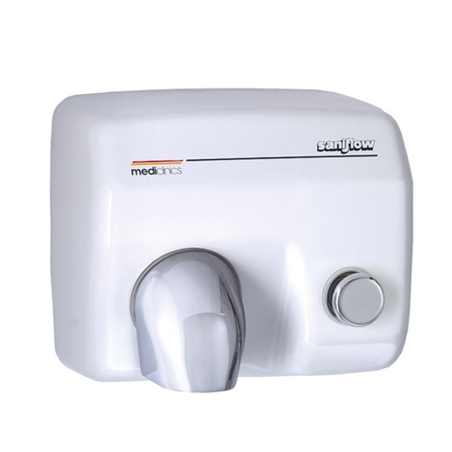 Saniflow® E88 Hand Dryer - Push Button - White Porcelain