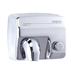 Saniflow® E88C Hand Dryer - Push Button - Bright