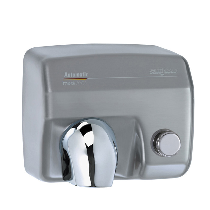 Saniflow 174 E88cs Hand Dryer Push Button Satin Sf E88cs