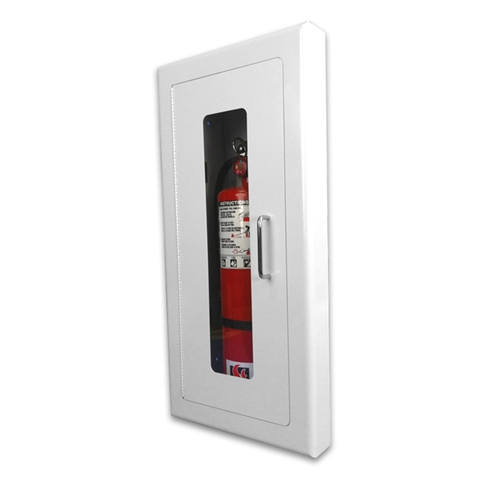 Strike First Elite Architectural Series SemiRecessed Fire - Semi recessed fire extinguisher cabinet