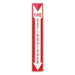 "Rigid ""Fire Extinguisher"" Photoluminescent ID Sign"