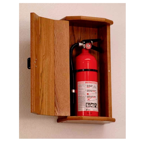 Wooden Mallet Fire Extinguisher Cabinet With Engraved
