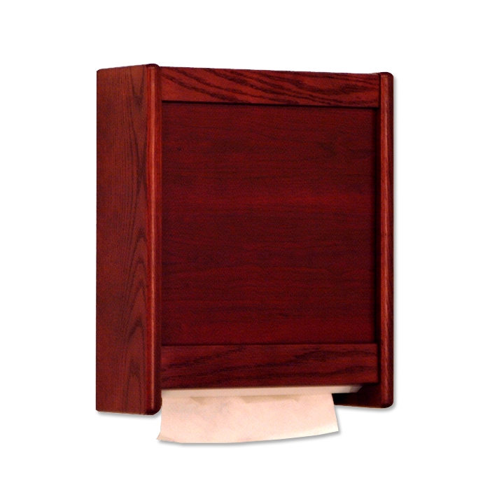 wooden mallet paper towel dispensers dark oak - Paper Towel Dispenser
