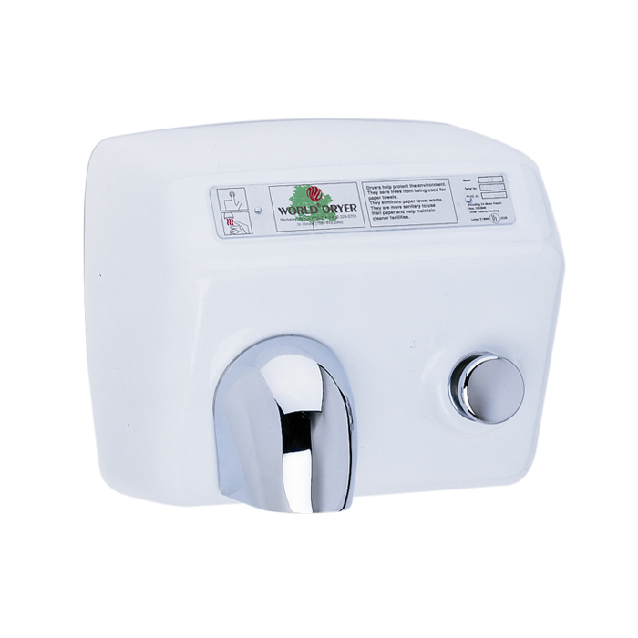 World Dryer Hand Dryer A5 974 Cast Iron Push Button