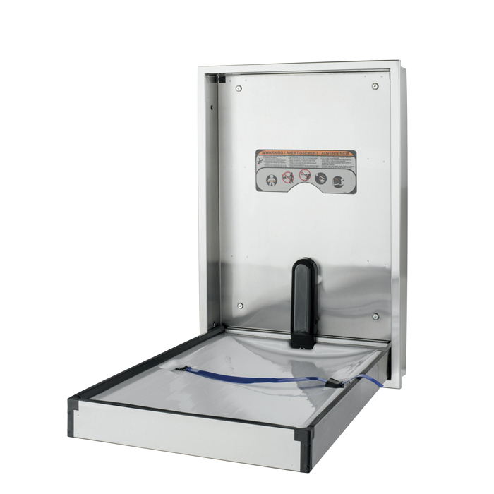 Brocar Full Stainless Steel Vertical Surface Mounted