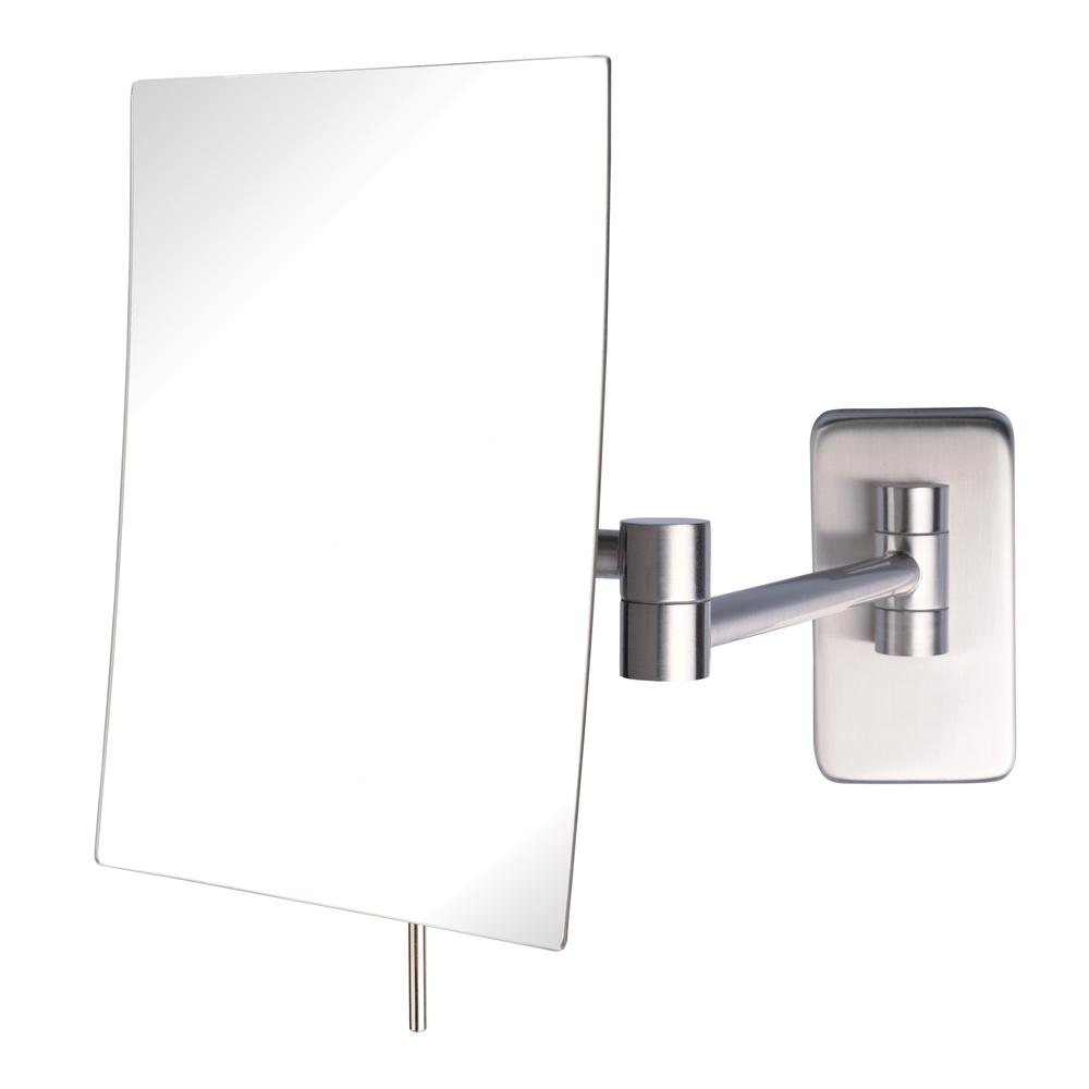 Jerdon Jrt695n Rectangular Wall Mounted Makeup Mirror Nickel Js Jrt695n