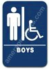 Restroom Sign Handicap Boys Sign Blue 1512 Handicap boys sign, ADA Boys Handicap sign