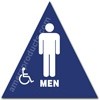 California Title 24 Restroom Sign Men Handicap Blue 1522 California Title 24 restroom sign men handicap, mens restroom sign, California Title 24 ADA mens handicap restroom sign