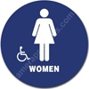 California Title 24 Restroom Sign Women Handicap Blue 1524 California Title 24 restroom sign Women handicap, Women restroom sign, California Title 24 ADA Women handicap restroom sign