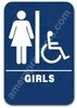 Restroom Handicap Girls 1514 Handicap Girls sign, ADA Girls Handicap sign