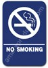 Restroom Sign No Smoking Blue 1507 No Smoking sign , No Smoking restroom sign, ADA No Smoking sign