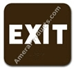 Exit Sign Brown 3811 Exit sign, ADA Exit  sign