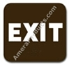 Exit Sign Brown 3811