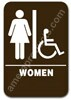 Restroom Sign Handicap Womens Brown 3804 restroom sign women handicap, womens handicap restroom sign, ADA women restroom sign handicap