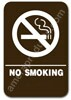 No Smoking Sign Brown 3807 No Smoking sign, ADA No Smoking sign