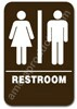 Restroom Sign Unisex Brown 3805