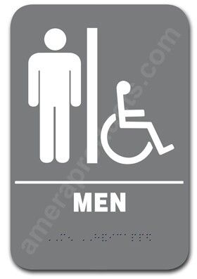Restroom Sign Handicap Men Grey 4402 Ep 4402