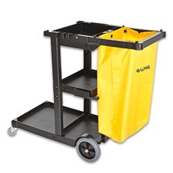 Janitorial Cleaning Cart with 3 shelves