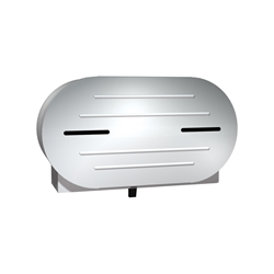 Stainless Steel Dual Jumbo Tissue Dispenser