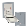 ASI 9017 Recessed Horizontal Vertical Stainless Steel Baby Changing Station