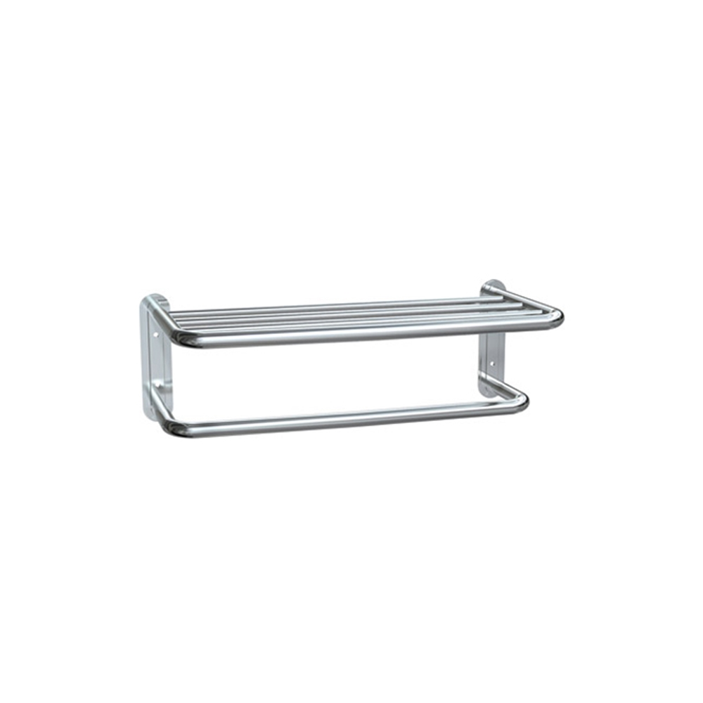 ASI 7311 Stainless Steel Towel Shelf with Towel Bar - Bright Finish ...
