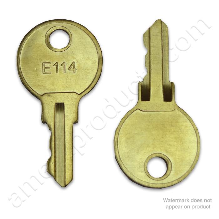 Bmwfort Access Key Replacement: ASI E-114 Key For Tumbler Lock #ASI-E-114