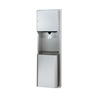 Bradley 236 Center Pull Paper Towel Dispenser with 12 Gallon Waste Receptacle - Satin Stainless