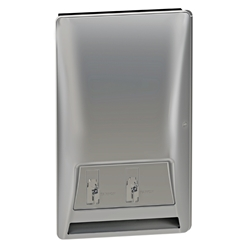 Bradley Diplomat 4A20 Napkin and Tampon Vendor Recessed