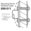 Bradley Concealed Mounting Kits for Partition Walls - 899-011