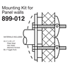 Bradley Concealed Mounting Kits for Panel Walls - 899-012